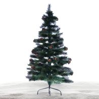 See more information about the 150cm (4 Foot 11 inch) Green Cone & Berries Fibre Optic Christmas Tree