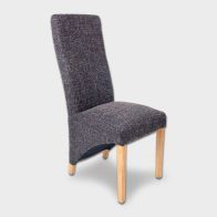 See more information about the Baxter Wave Back Dining Chair Black & Tweed