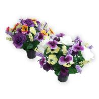 See more information about the Pansy & Rose Grave Pot - White