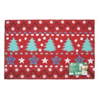 See more information about the Christmas Trees & Stars Door Mat 40 x 60cm