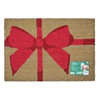 See more information about the JVL Christmas Coir Door Mat 40 x 60cm 2 Robins Merry Christmas