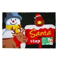 See more information about the Christmas Santa Stop Here Door Mat 40 x 60cm