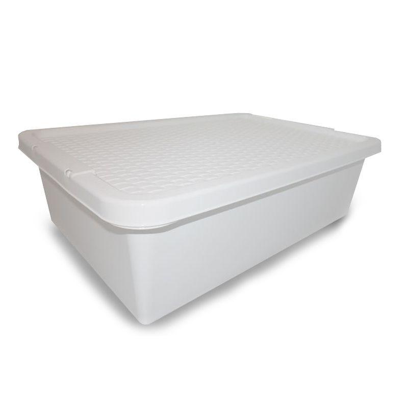 Buy 32L Simply Rattan Underbed Plastic Storage Cream Box ...