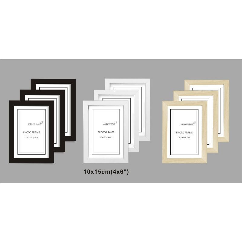 Buy 3 Pack MDF Perfect Grace Frames 4x6 Inch - White - Online at ...