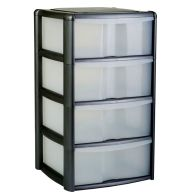 See more information about the 4 Drawer Bambu Tower Black/Clear