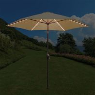 See more information about the Croft Tadlow 2.7m Beige Parasol with LED Lights