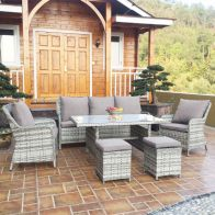 See more information about the Monaco 6 Piece Rattan Outdoor Furniture Set