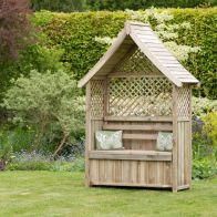 See more information about the Norfolk Garden Arbour with Storage Box