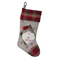 Santa White & Red Christmas Stocking (51cm x 26cm)