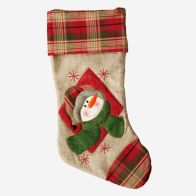 Snowman With Red Hat 51x26cm Christmas Stocking