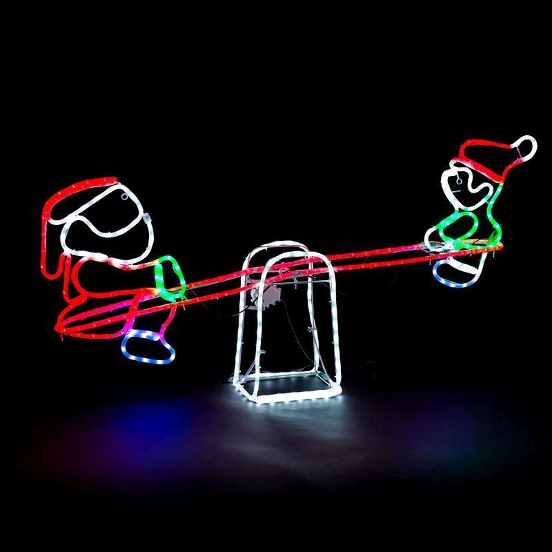 Buy santa and child motor driven seesaw rope light feature zoom image aloadofball Gallery