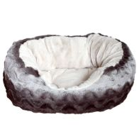 See more information about the Rosewood Snuggle Plush Oval Bed (25 Inch) - Grey Cream