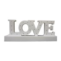 White LOVE Letter Light