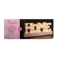 White HOME Letter Light