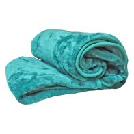 See more information about the Your Home 150 x 200cm Faux Fur Turquoise Throw