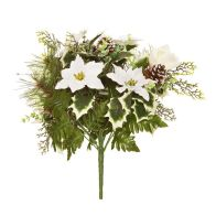 See more information about the Christmas Floral Bouquet Cream 36cm