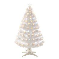 90cm (2 Foot 11 Inch) Warm White Spiky Ball Fibre Optic Christmas Tree