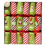 6 Family Christmas Crackers (15 Inch) - North Pole