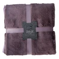 See more information about the Maison De Luxe 130x180cm Faux Fur Throw Purple