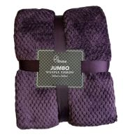 See more information about the 200x200cm Waffle Throw - Purple