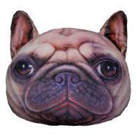 See more information about the 32cm Animal Plush Pillow - Pug