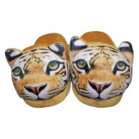 22cm Open Heel Animal Slipper - Tiger