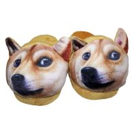 22cm Open Heel Animal Slipper -Corgi
