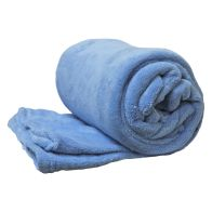 See more information about the 150 x 200cm Flannel Fleece Blanket Throw Blue