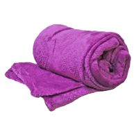 See more information about the 150 x 200cm Flannel Fleece Blanket Throw Lilac