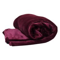 See more information about the 150 x 200cm Flannel Fleece Blanket Throw Dark Red
