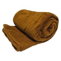 See more information about the Your Home 150 x 200cm Coral Fleece Brown Throw