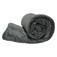See more information about the Your Home 150 x 200cm Coral Fleece Dark Grey Throw
