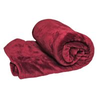 Your Home 150 x 200cm Coral Fleece Dark Red Throw