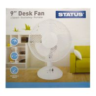 See more information about the Status 9 Inch Oscillating Desk Fan White - 2 Speed