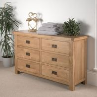 See more information about the Cotswold Oak Chest Of 6 Drawers