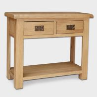 See more information about the Cotswold Console Table Oak 2 Drawer