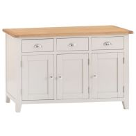 See more information about the Elsing Sideboard Painted Oak 3 Door 3 Drawer