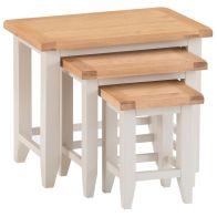 See more information about the Elsing Trio Nest of Tables Painted Oak