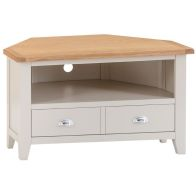 See more information about the Elsing Corner TV Unit Painted Oak 1 Shelf 1 Drawer