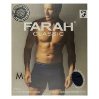 See more information about the 2 Pack Mens Navy Medium Seamless Farah Trunks
