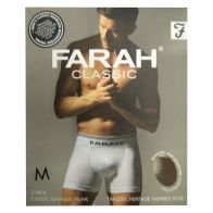 See more information about the 2 Pack Mens White Medium Seamless Farah Trunks
