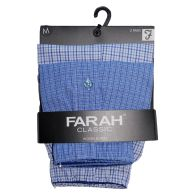 See more information about the 2 Pack Mens Blue Sky Medium Woven Farah Boxer Shorts