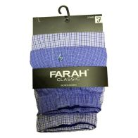 See more information about the 2 Pack Mens Blue Sky Large Woven Farah Boxer Shorts