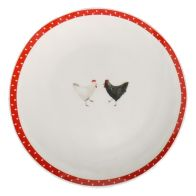 Red Chickens Side Plate