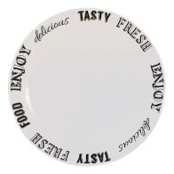 See more information about the Text Dinner Plate