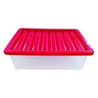 32L TML Underbed Storage Box & Pink Lid