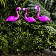 See more information about the Bright Garden 3 Pack Flamingo Solar Stake Light