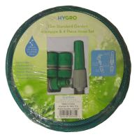 See more information about the Hygro 15m Standard Garden Hosepipe &  4 Piece Hose Set