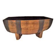 See more information about the Medium Half Barrel Wooden Look Garden Planter