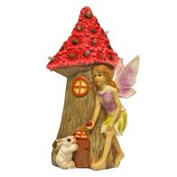 See more information about the Magical Garden Solar Powered Woodland Fairy House - Red